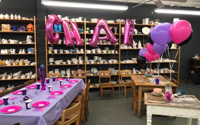 Brushfire Pottery Studio Birthday Party - Nashville TN
