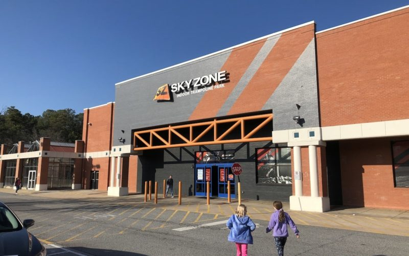 Entrance to Sky Zone in Roswell, GA