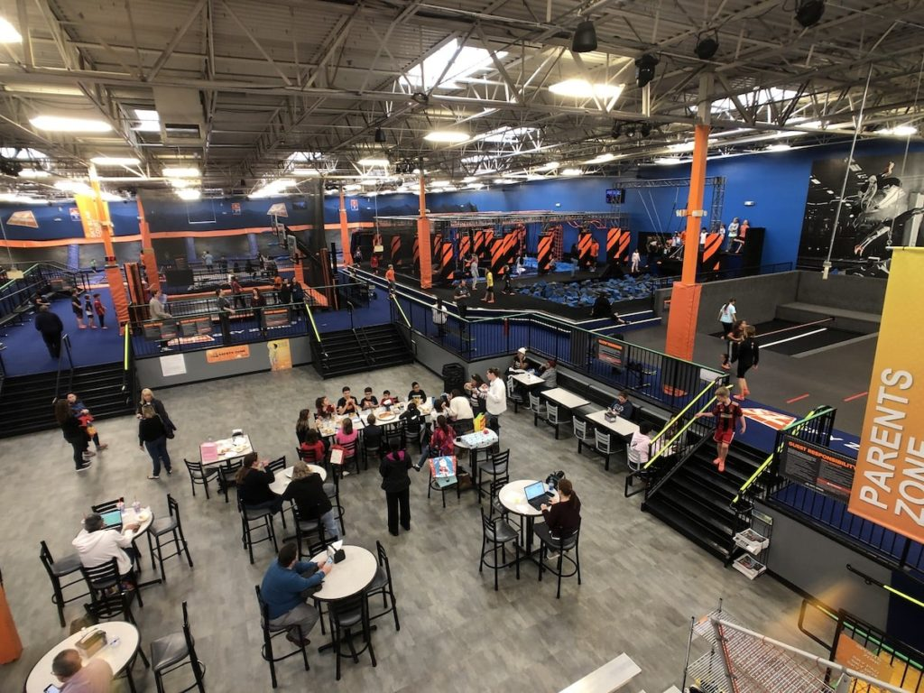 Entrance to Sky Zone in Roswell, GA - Interior