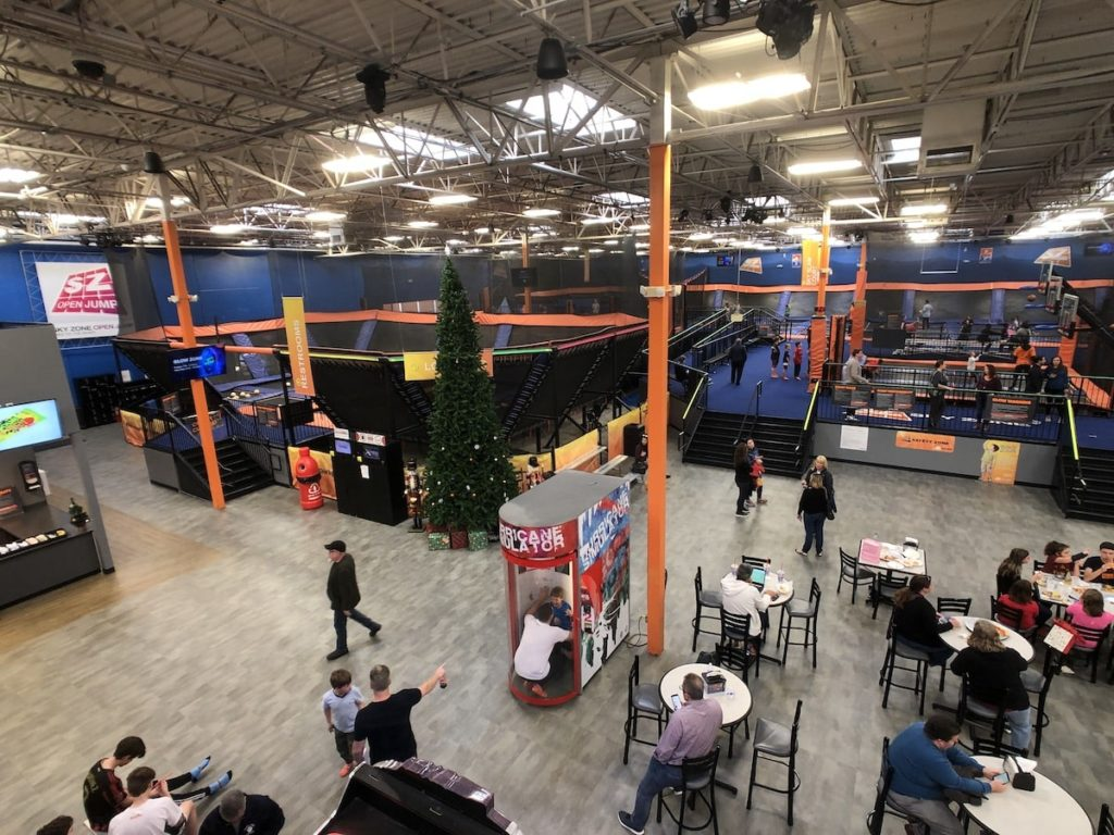Entrance to Sky Zone in Roswell, GA Interior 2