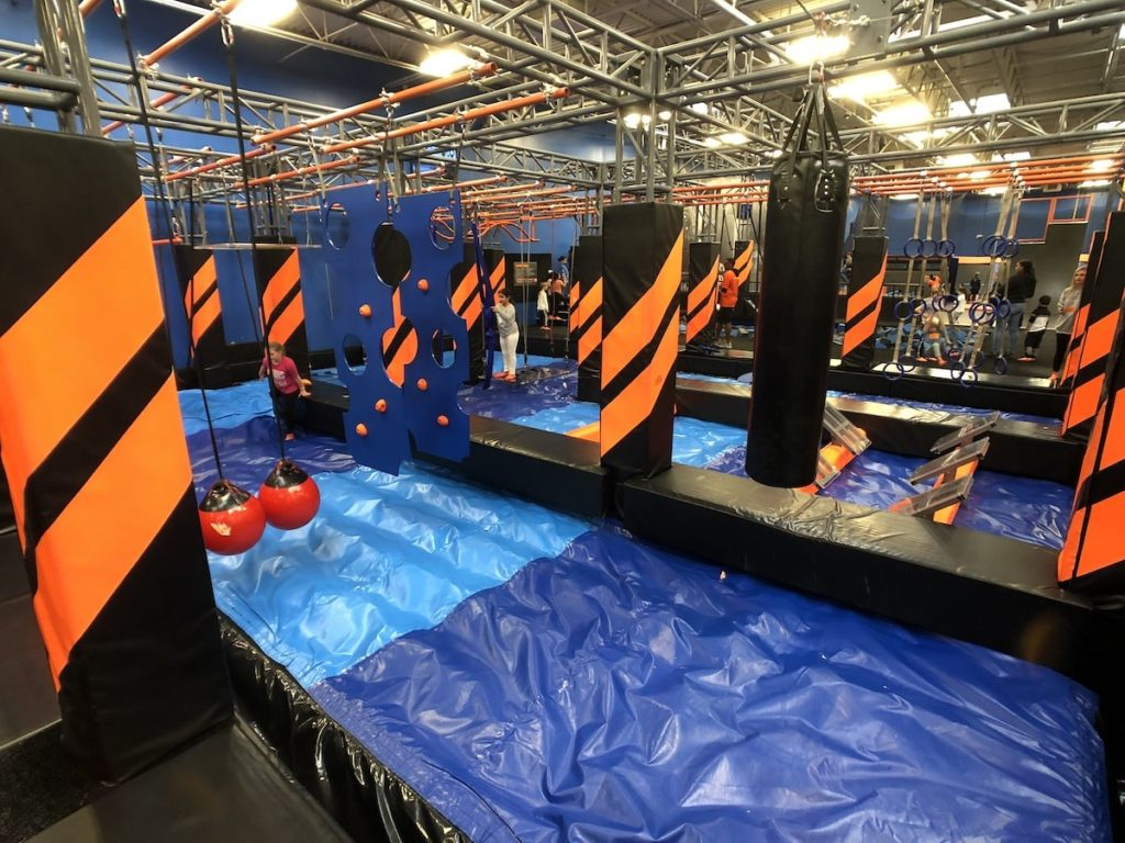 Ninja Obstacle Course at Sky Zone in Roswell, GA