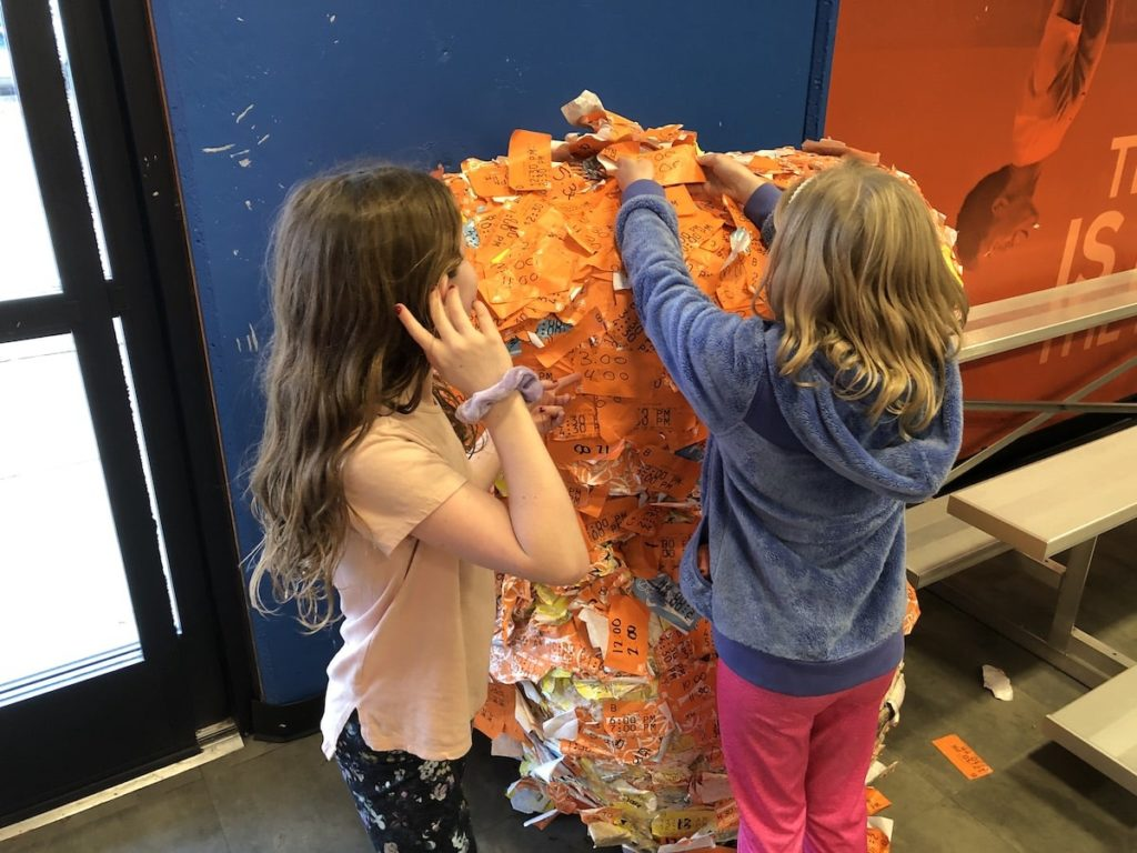 Sticker ball at Sky Zone in Roswell, GA