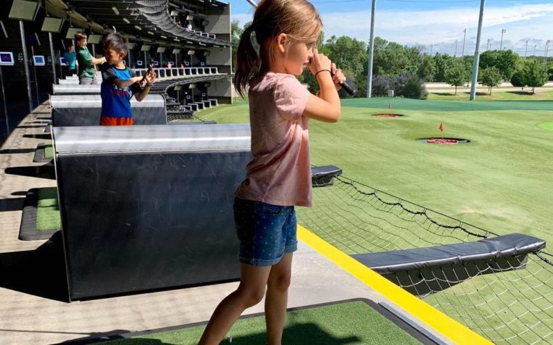 Topgolf Child Golfing