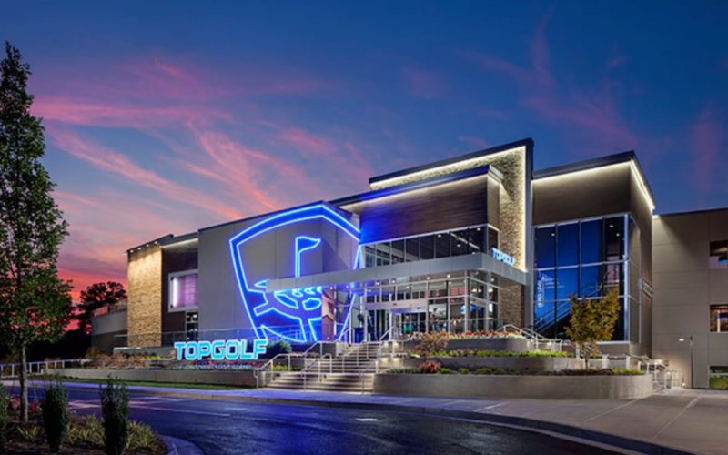 Topgolf Exterior Entrance